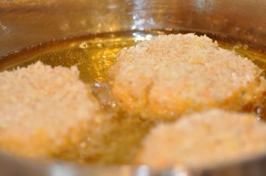Crumbed fish cakes 5