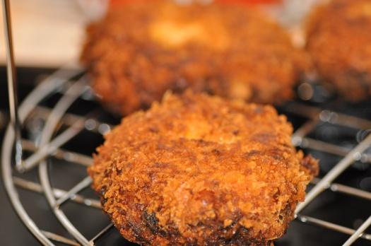 Crumbed fish cakes 7